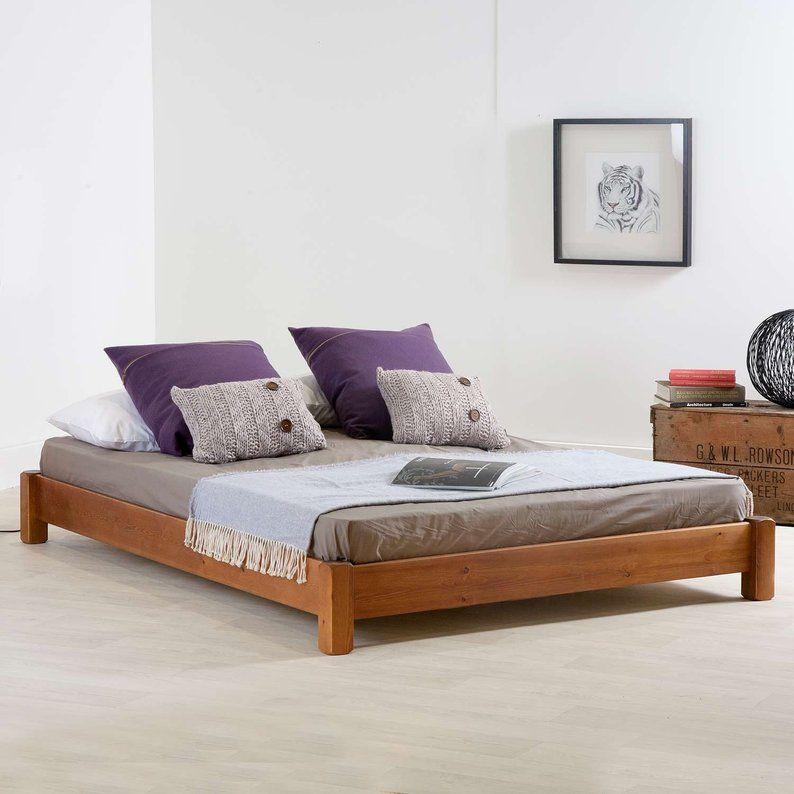 Low Platform Wooden Bed Frame By Get Laid Beds Low Bed Frame