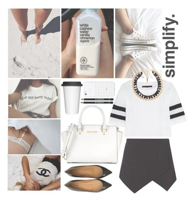 """simple."" by karoliiii ❤ liked on Polyvore featuring Prada, Børn, Karl Lagerfeld, Yves Saint Laurent, Michael Kors, Sagaform, Gucci and Givenchy"