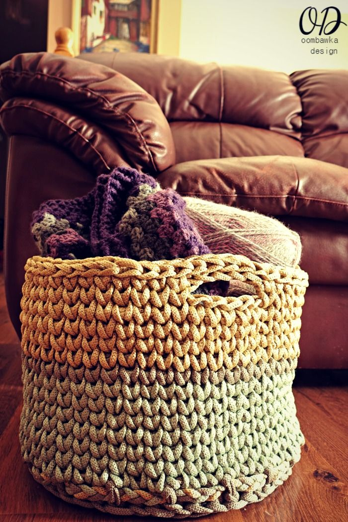 Your Giant Yarn Basket Macrame Cord Free Pattern And Cord