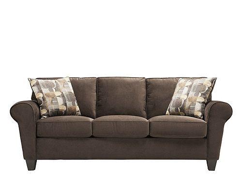 This Beautifully Styled Brennen Microfiber Sofa In