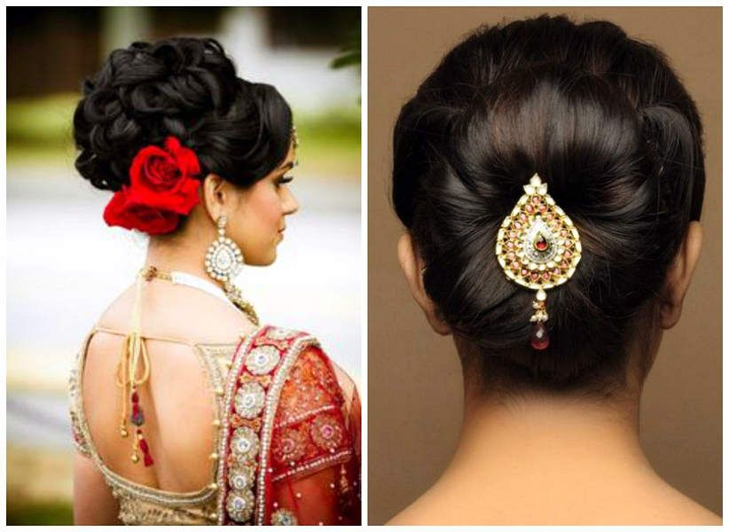 5 Simple But Truly Stunning Hairstyle For Indian Wedding Indian Bun Hairstyles Indian Hairstyles Indian Wedding Hairstyles