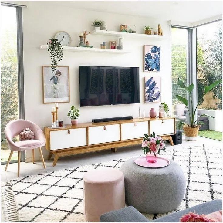 59 Beste Tv Wand Wohnzimmer Ideen Dekor Auf Einem Budget Modern Apartment Decor Living Room Decor Apartment Modern Living Room Wall