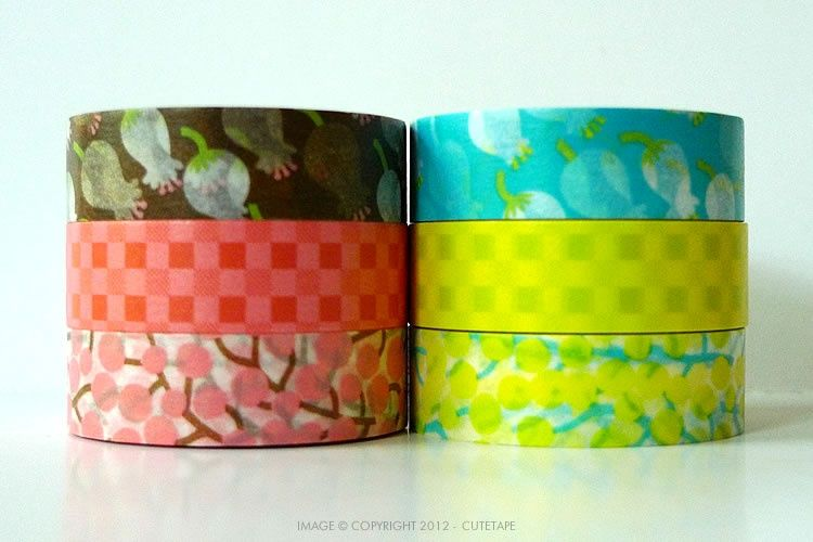 Cute Lily of the Valley washi tape. Love the color combination <3