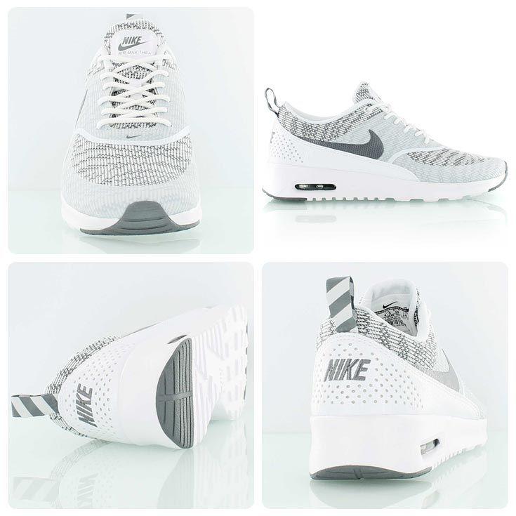 ed232890b8 Nike Air Max Thea KJCRD (Knit Jacquard) white/gray | SNEAKERS Ladies ...