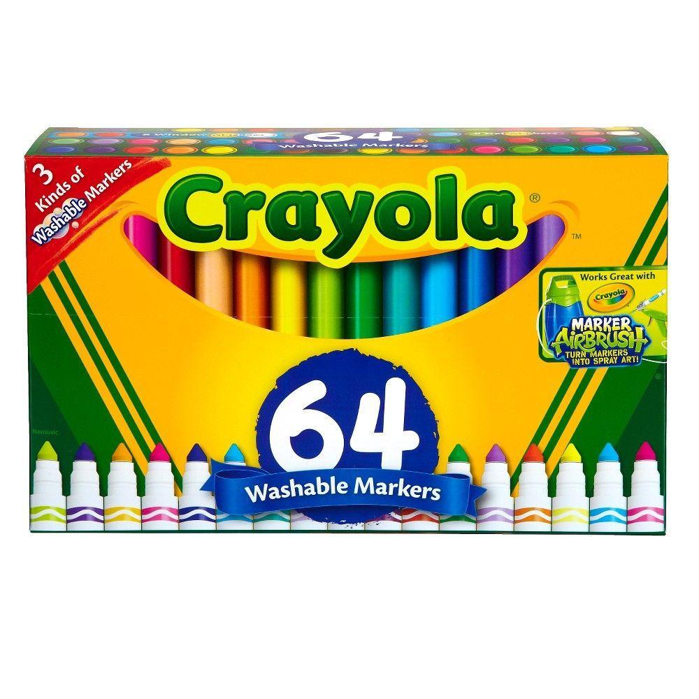 Crayola Classpack Washable Broadline Markers - 64ct,