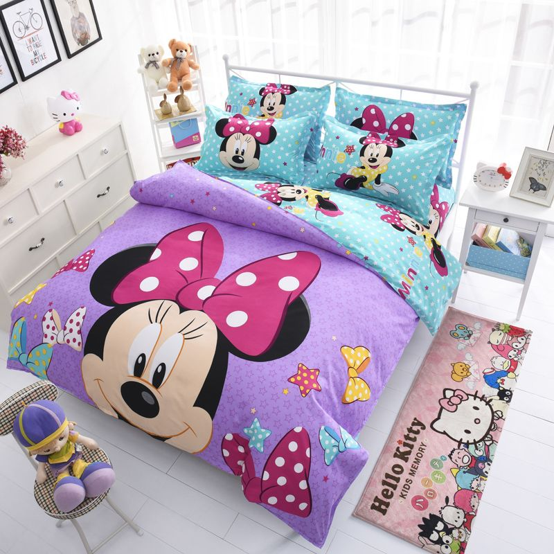Disney Mickey Mouse Mouse Minnie Winnie Duvet Cover Set 3