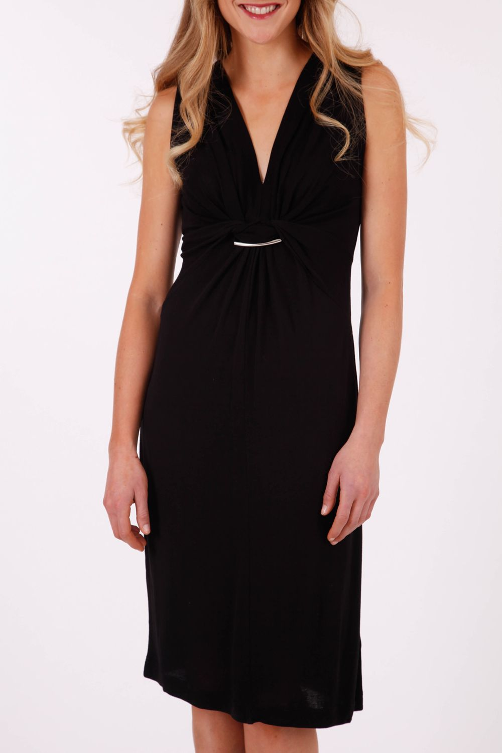 Ping pong sleeveless v neck dress simple elegance and clothing