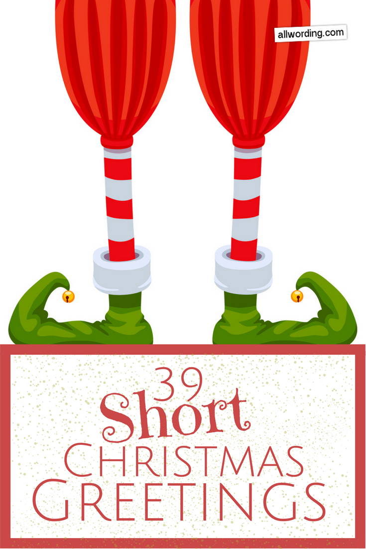 Spread Some Holiday Cheer With These Short Christmas Greetings | All ...