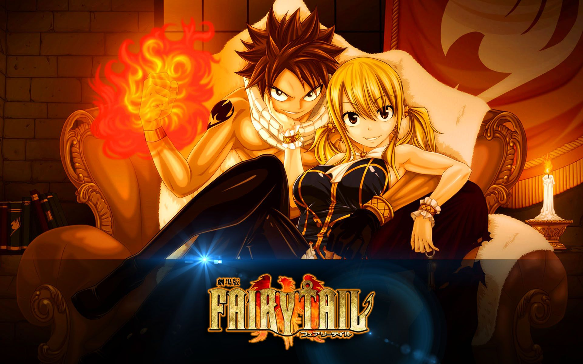 fairy tail lucy and natsu dragon force wallpaper anime