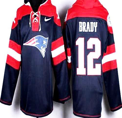 0badb0238 New Model Tom Brady Polyester with Fleece Lined hoodie to emulate Hockey  jersey .Engineered Stripe Collar and Cuffs New England Patriots Colors 100%  ...