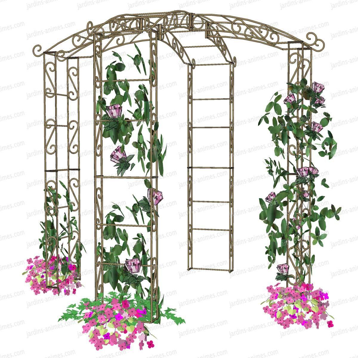 Tonnelle Kiosque De Jardin gloriette kiosque en fer 4 pieds diam. 2.14m | arche jardin