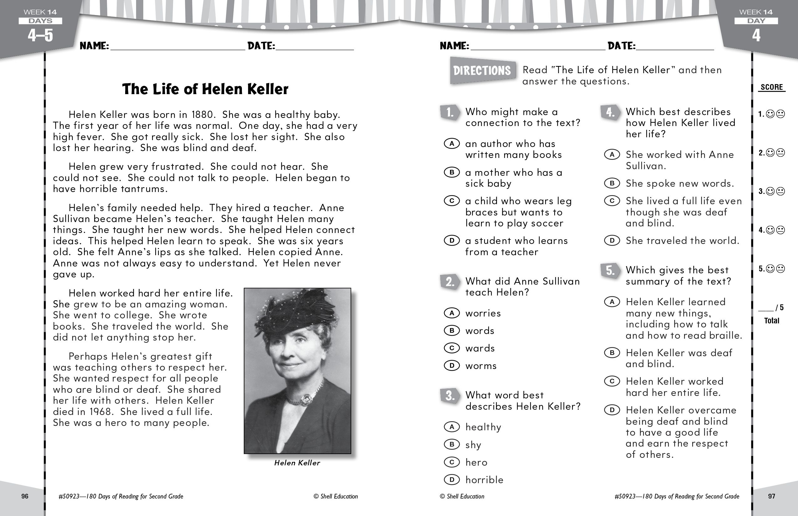Celebrate Helen Keller S Birthday With This Activity From