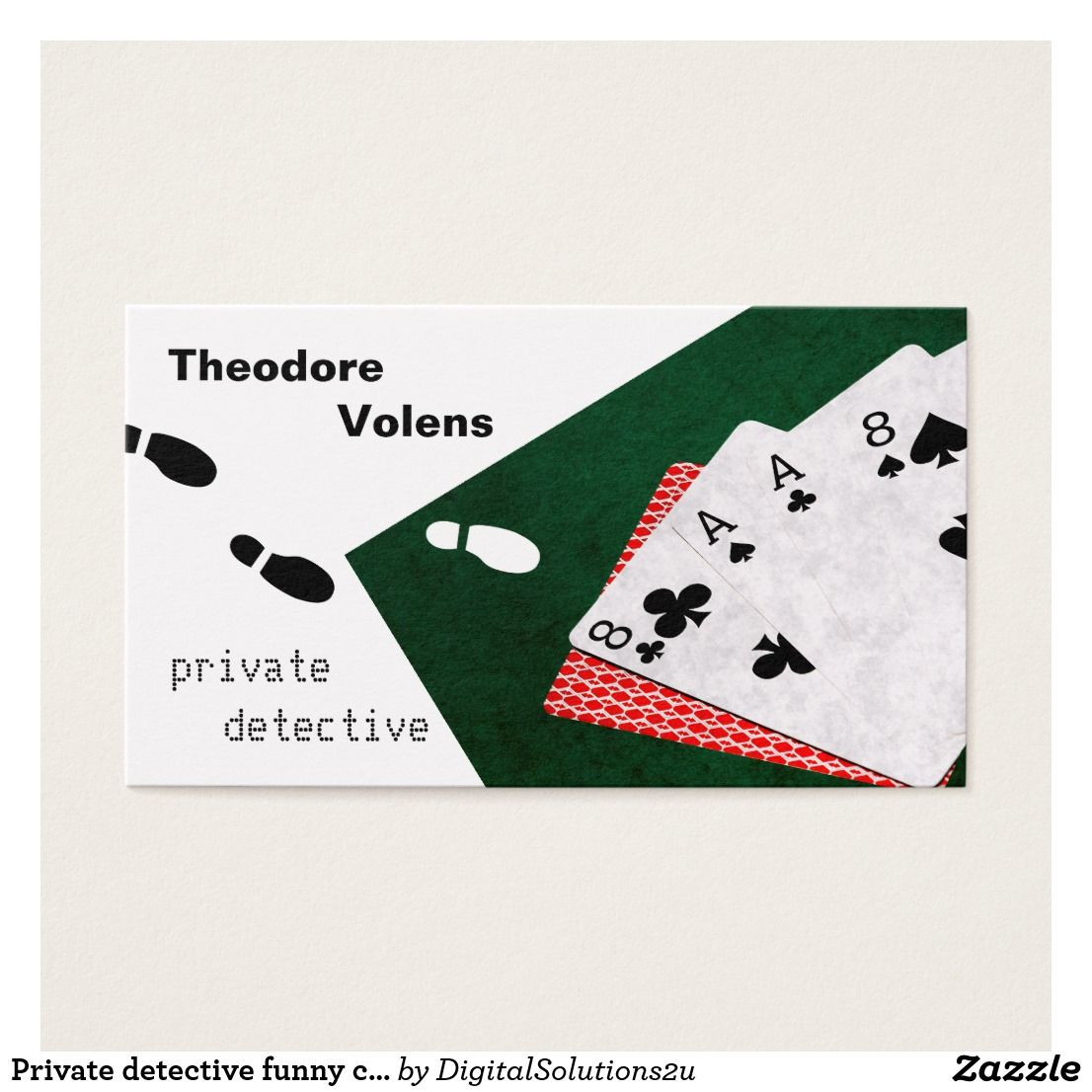 Private Detective Funny Customizable Business Card