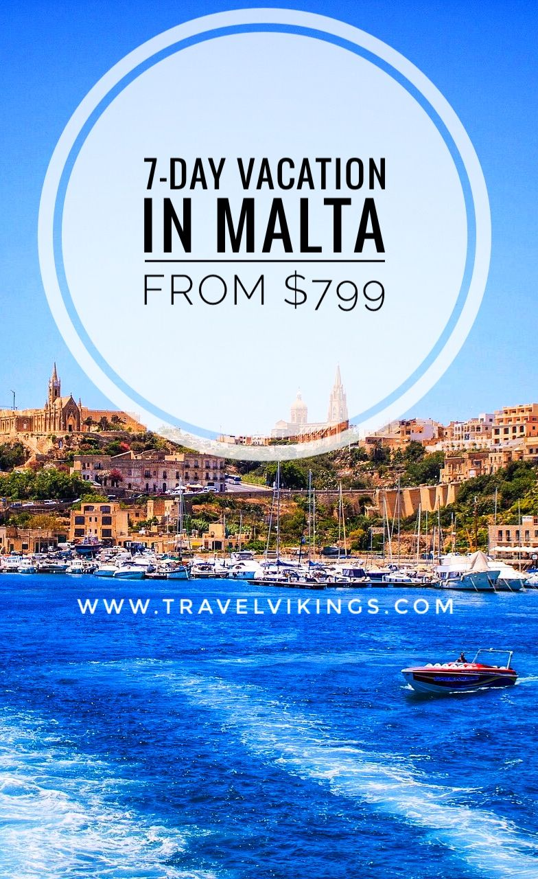 7 Days In Malta Including Flight Hotel And Daily Breakfast From