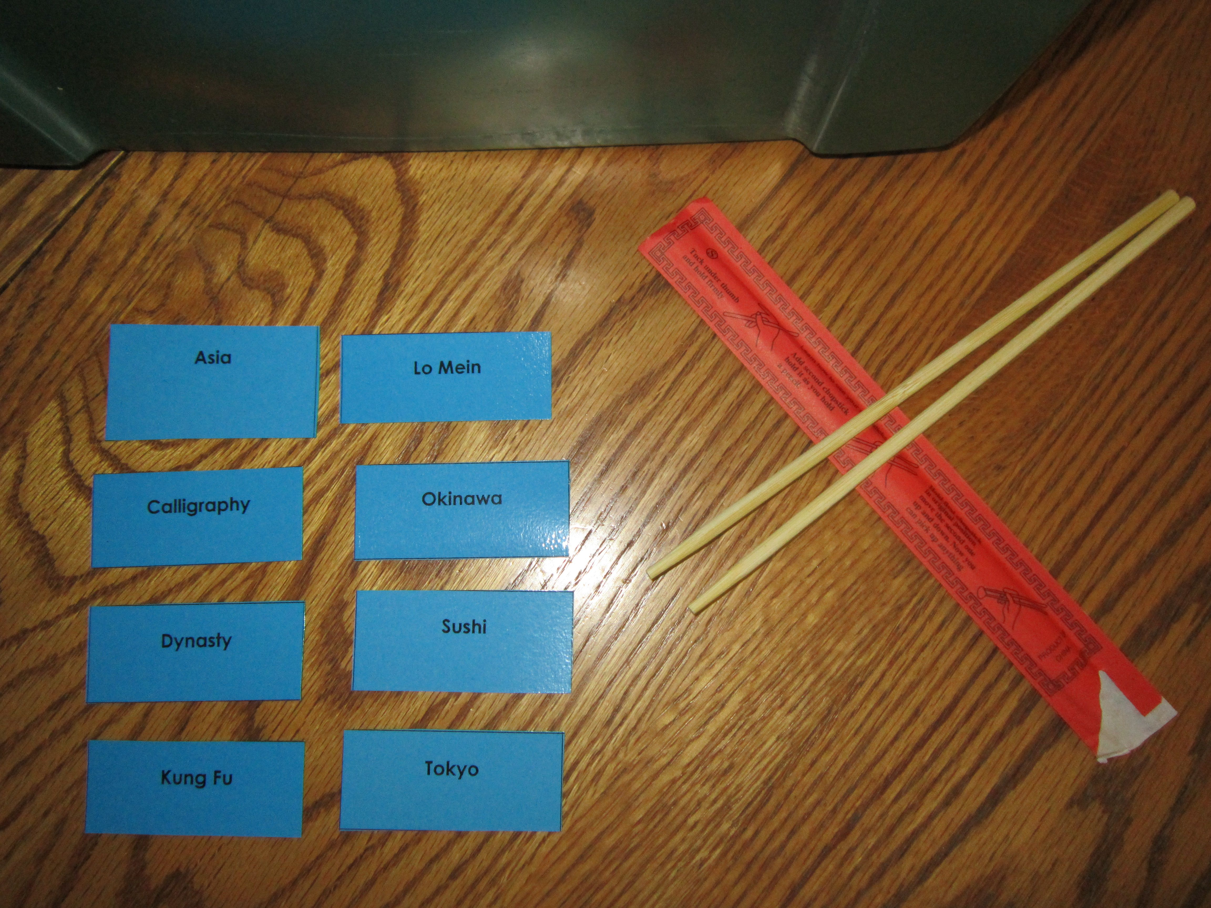 Examples Of Game Cards For Alphabetizing With Asia