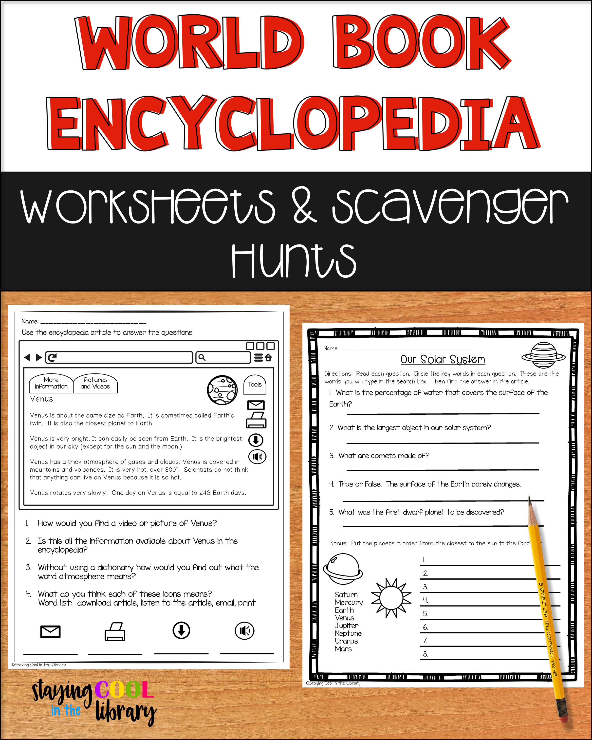 Online Encyclopedia Worksheets And Scavenger Hunts