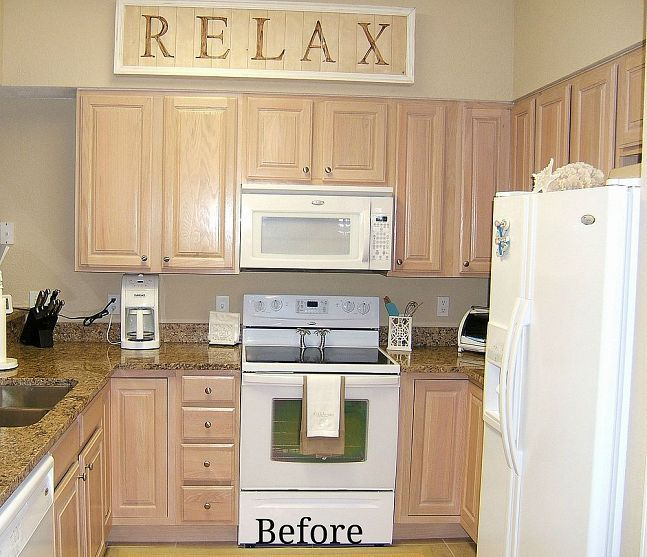 Cabinet Refacing Colors: Kitchen Cabinet Remake -Pickled To Beachy