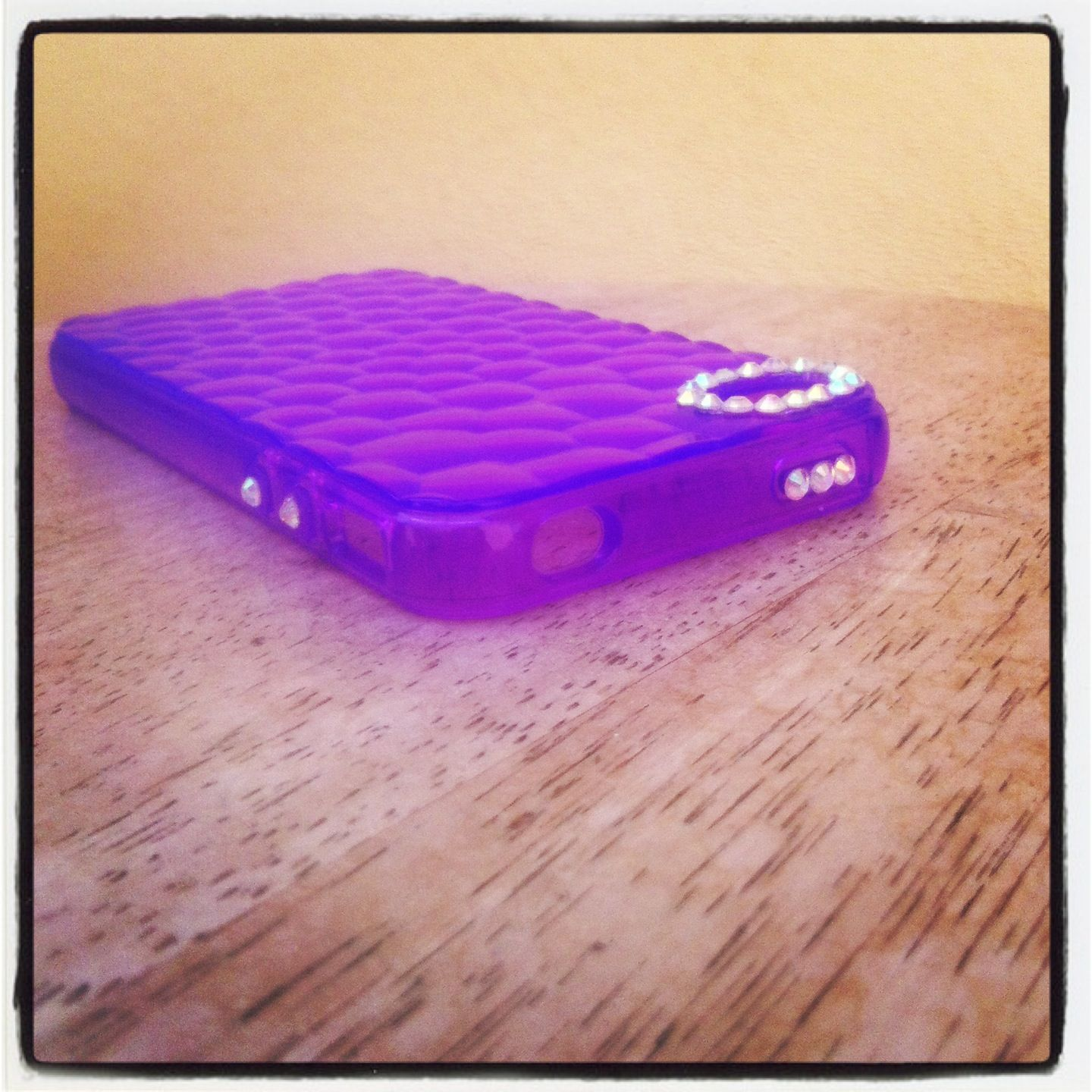 iPhone case I got from the dollar store, made even more beautiful by me!! :)) #Gottalovebling!
