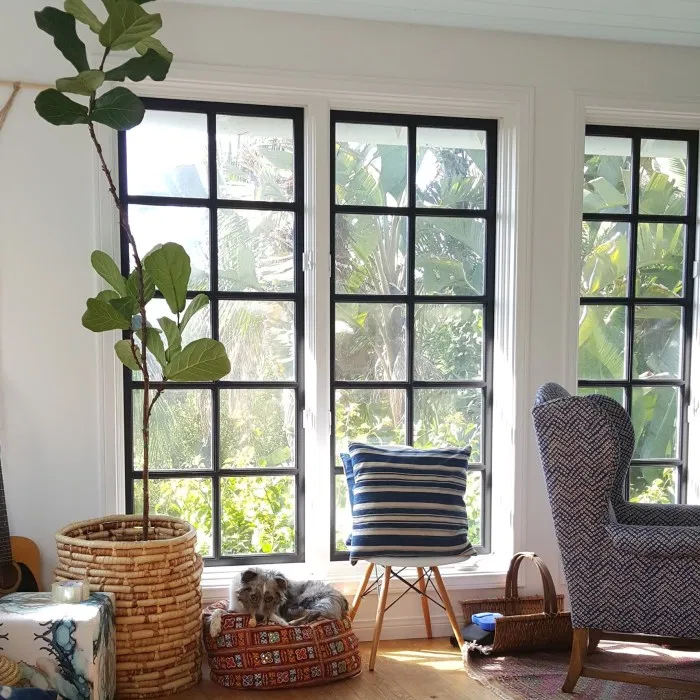 Black Frame Windows The Estate Of Things Living Room Windows Black Window Frames Black Window Trims