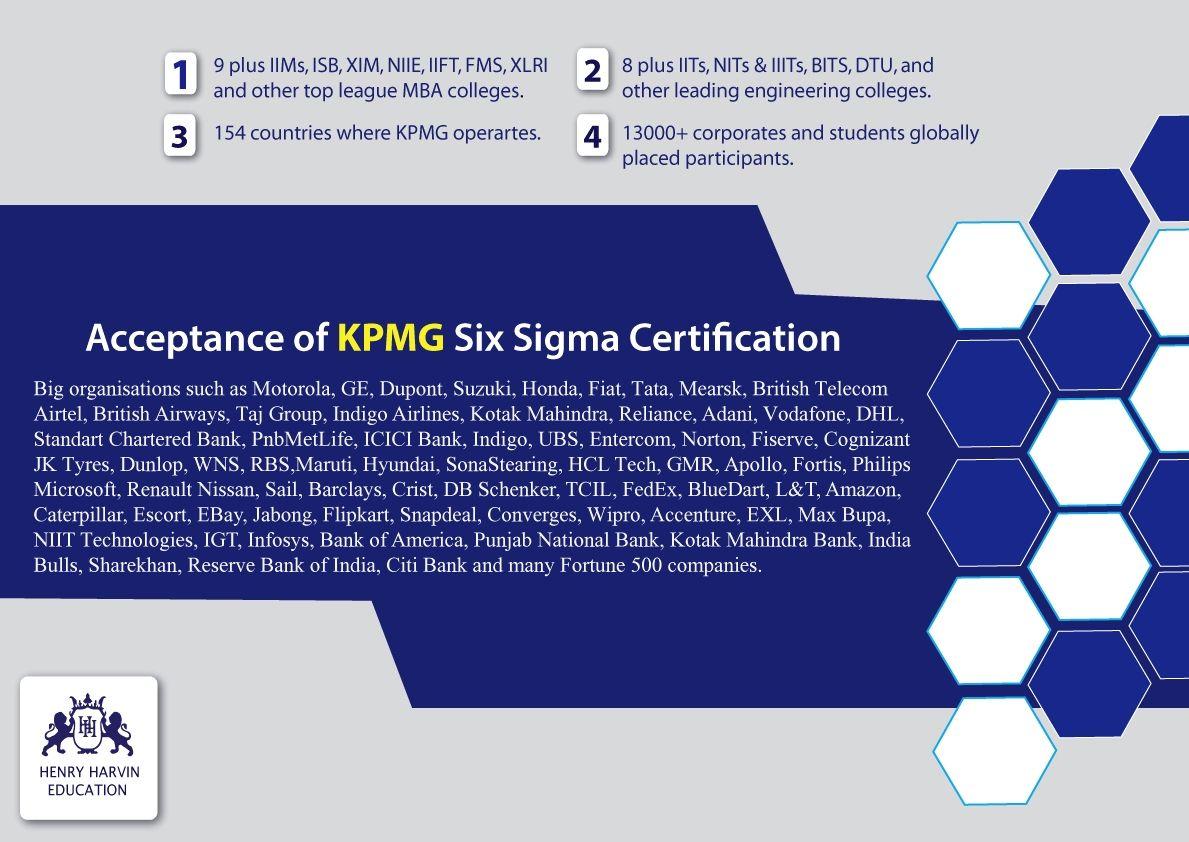 Kpmg sixsigma acceptance six sigma green belt certification executive certificate course on lean six sigma green belt xflitez Gallery