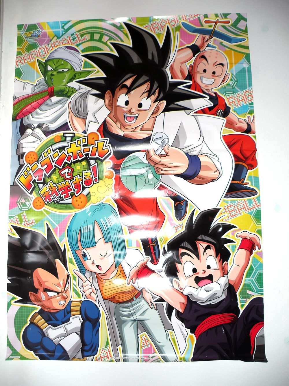 Bulma, Vegeta, Goku, Gohan, Piccolo, and Krillin Dragon Ball Science Fair