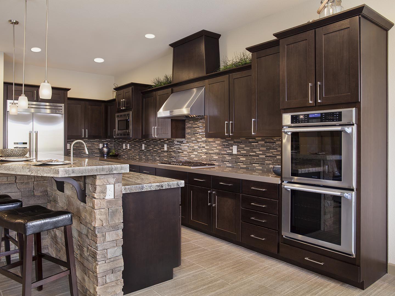 Cabinets Chocolate On American Poplar Standard Overlay Using Lancaster Flat Panel Door Kitchen Design Home Decor Kitchen Kitchen Remodel