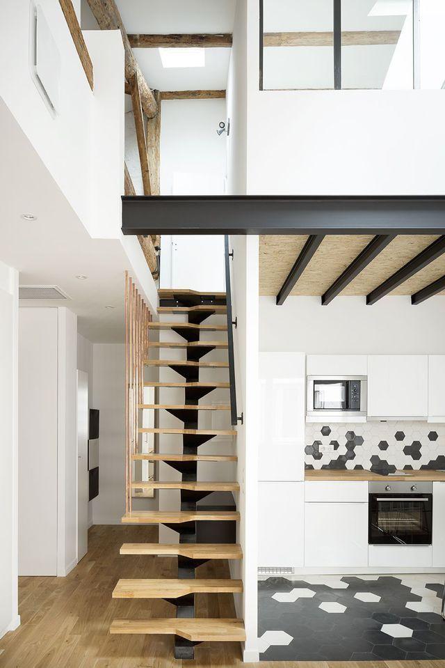 appartement montpellier 57 m2 avec mezzanine interior. Black Bedroom Furniture Sets. Home Design Ideas