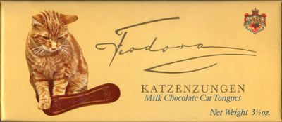 The Candy Wrapper Museum's Katzenzungen candybar cat' tongue SHAPED candy