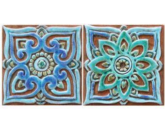 Photo of Decorazioni per pareti del bagno, piastrelle in ceramica, decorazioni marocchine, arte murale marocchina, piastrelle marocchine, arte della parete in ceramica, marocchino n. 1, turchese, 30 cm