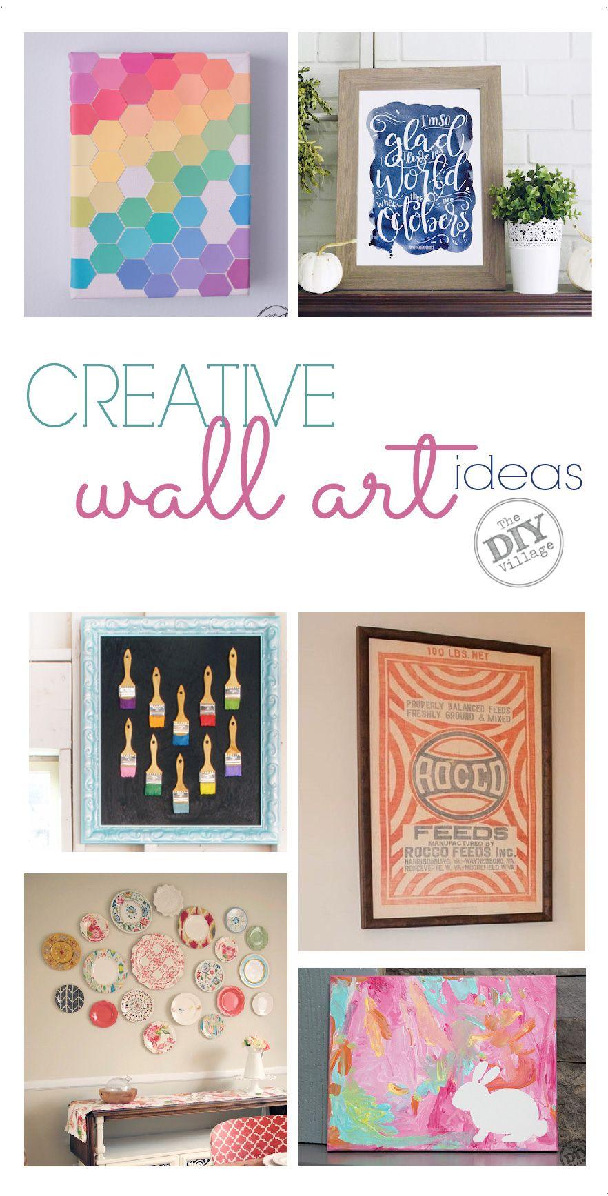 Creative wall art ideas diy pinterest creative