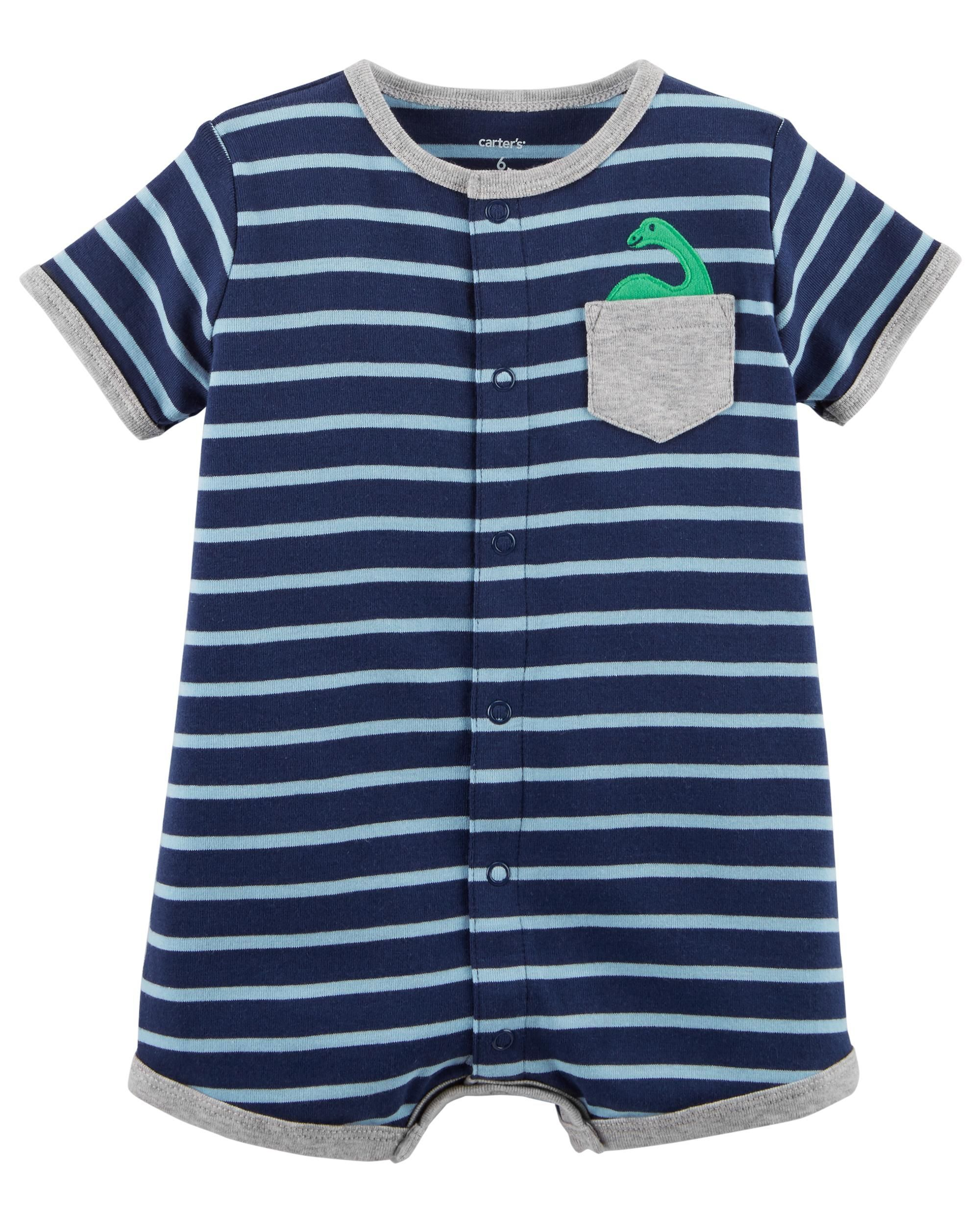 1949aaefe Striped Snap-Up Cotton Romper | Santana's outfits | Carters baby ...
