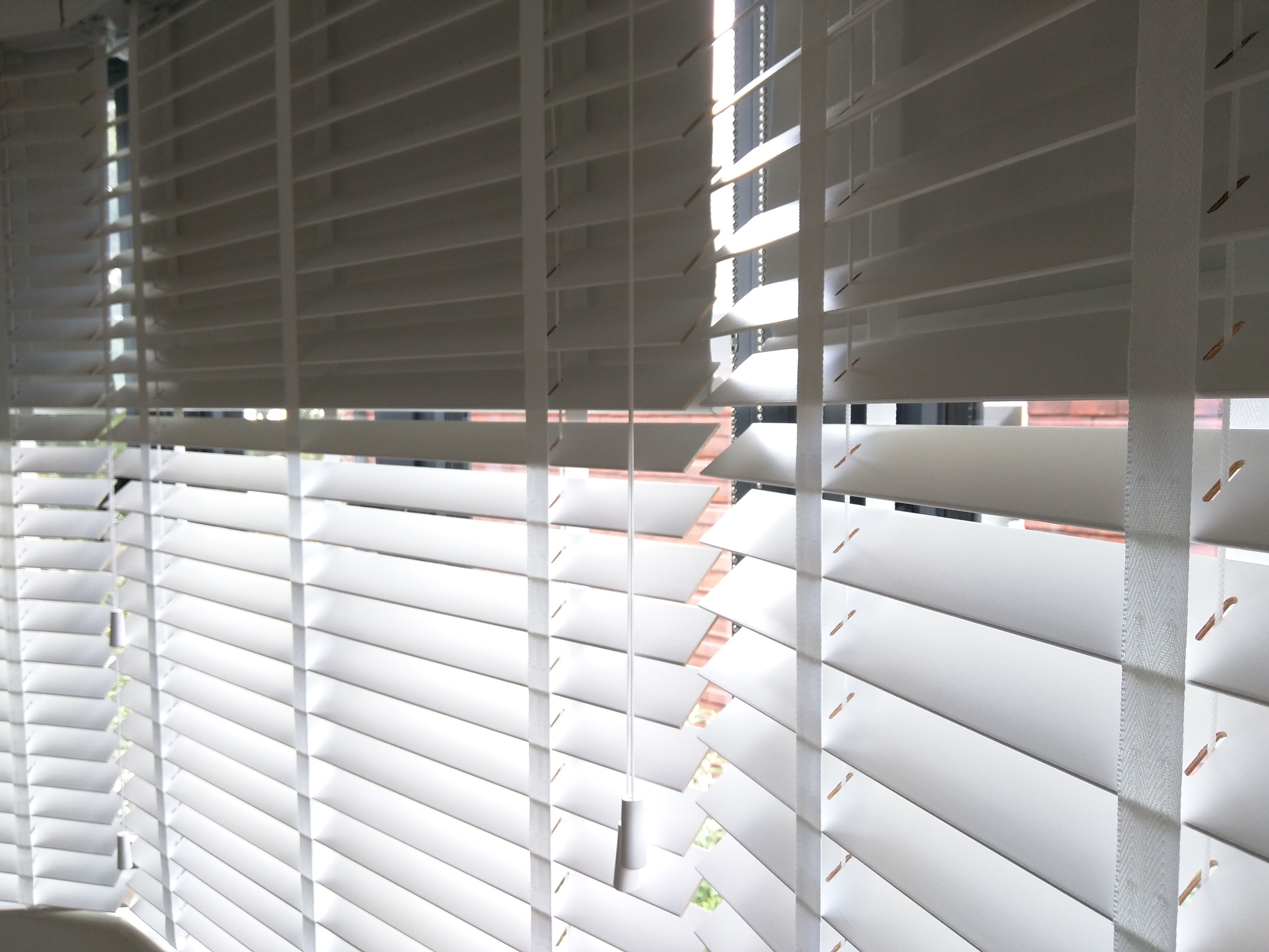 Wood Venetian Blinds With Blackout Roller Blinds Behind Fitted To Bay Window In Bedroom In Hove Double Dual B Wooden Blinds Diy Blinds Curtains With Blinds