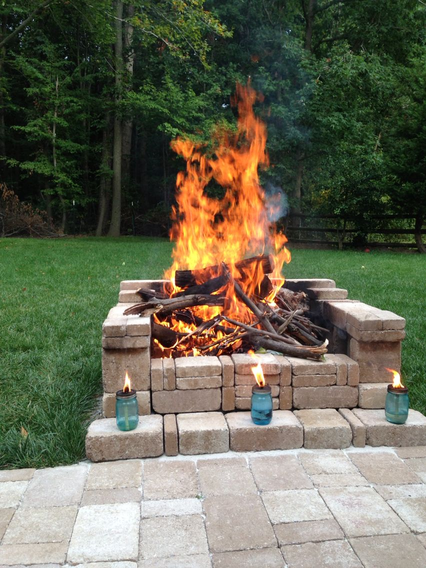 Make your own firepit | Fire pit backyard, Backyard ... on Building Your Own Outdoor Fireplace id=18373