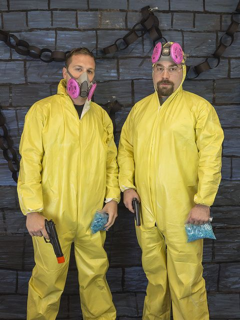 Jesse and Walter White Halloween costumes popular with Breaking Bad fans. Complete with Blue Crystals! .ultimatecostumeideas.com  sc 1 st  Pinterest & Jesse and Walter White Halloween costumes popular with Breaking Bad ...