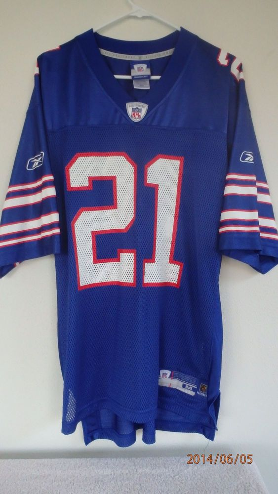 sale retailer 60951 26ffd Willis McGahee Buffalo Bills Mens Jersey Blue #21 Reebok NFL ...