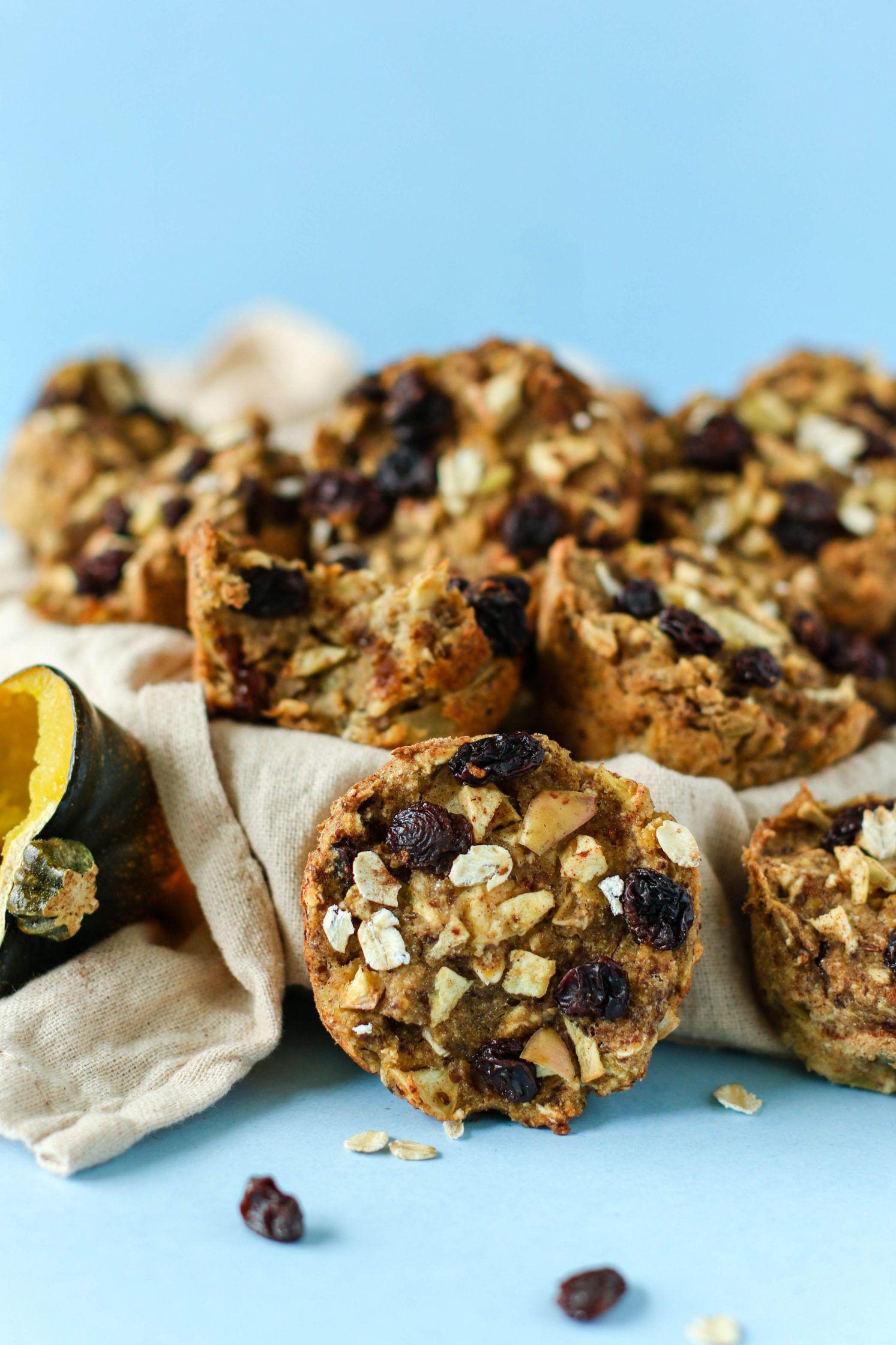 1 Bowl Acorn Squash Apple Cinnamon Raisin Muffins Recipe