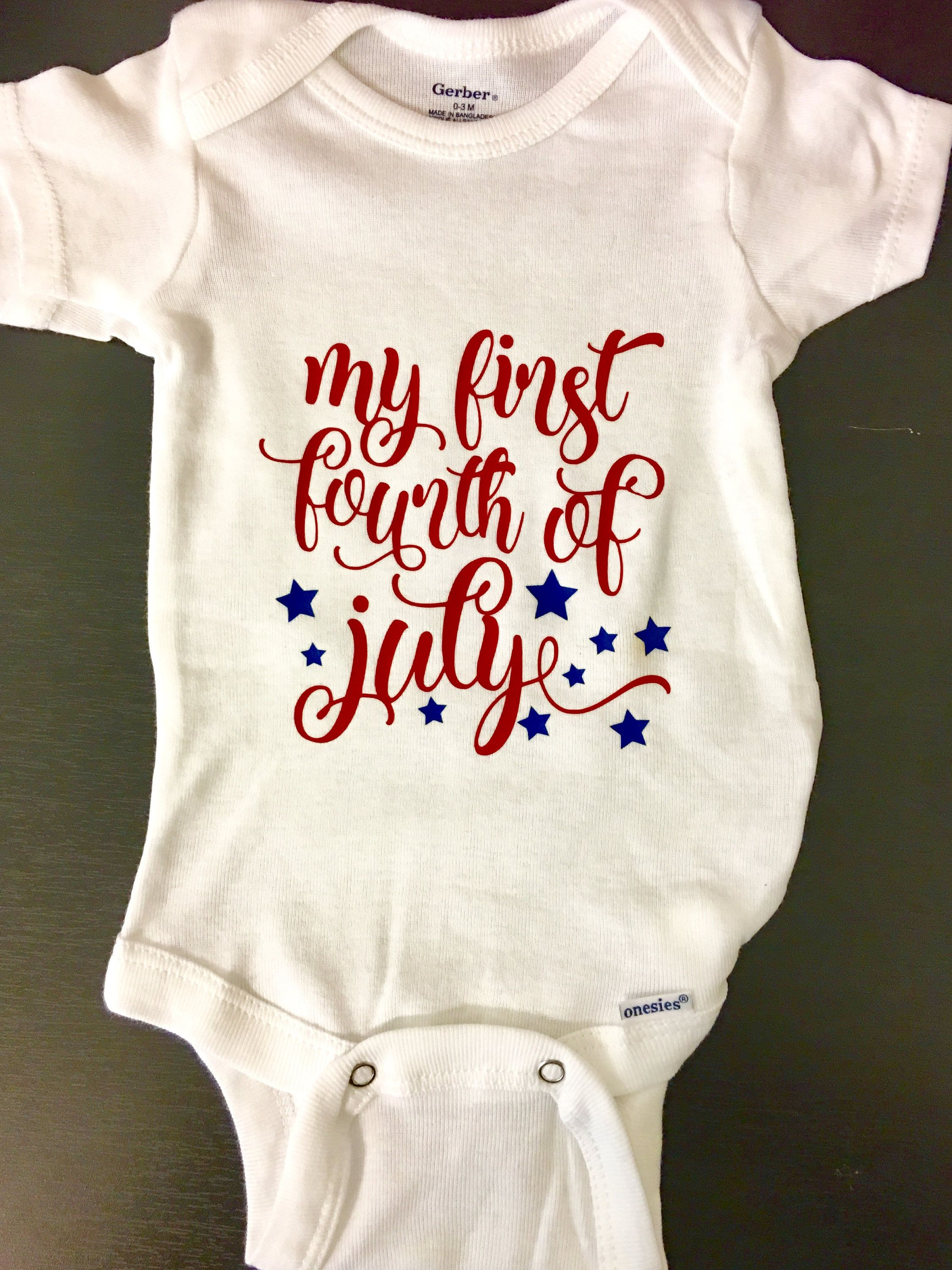 5f7147370 My First 4th of July Onesie / Fourth of July / Independence Day Shirt /  Baby Clothing / Holiday Tops / Patriotic Red White & Blue by  PhaseApparelCompany on ...