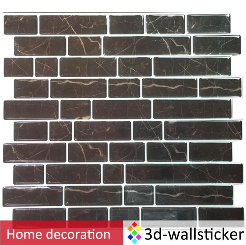 Tile Decoration Stickers Impressive Easy Peel Off Wall Sticker Home Wall Subway Tile For Backsplash Decorating Inspiration