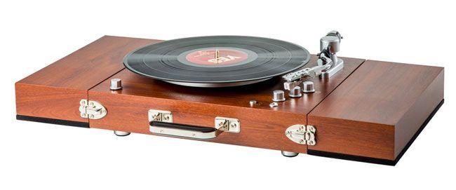 Retro Audio Vintage Style Ricatech Wooden Turntable
