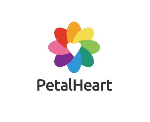 Logo Design Logo Maker Shthink Logo Petals Color Heart