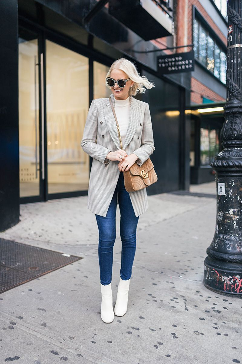 The Perfect Lightweight Coat For Fall The Style Scribe White Boots Outfit Winter Fashion Outfits Winter Outfits Dressy
