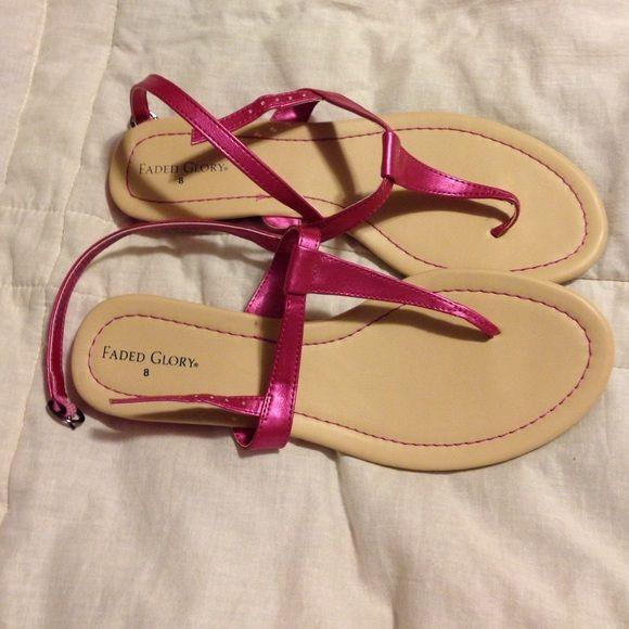 Cute pink sandals Cute pink sandals nwot Shoes Sandals