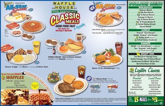 Diner Restaurant Menus Waffle House Diner Restaurant Lunch Waffles Coffee Recipes Waffle House