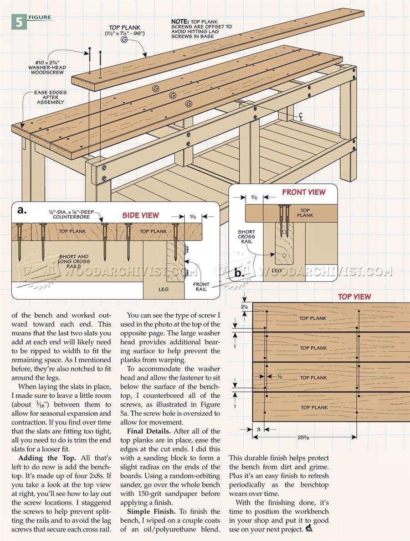 2381 Heavy Duty Workbench Plans Workshop Solutions Workbench