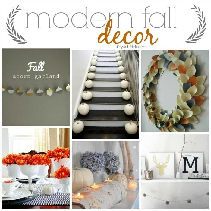 So many great ideas to decorate your home for fall in a really modern way. #modernfalldecor #falldecor #falldecorideas #falldiy via @heytherehome
