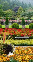 photo - Italian Garden, Butchart Gardens #butchartgardens