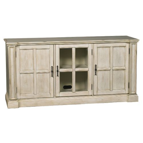 65 Inch Antique White TV Stand - Kingston - 65 Inch Antique White TV Stand - Kingston Nest {Living Room