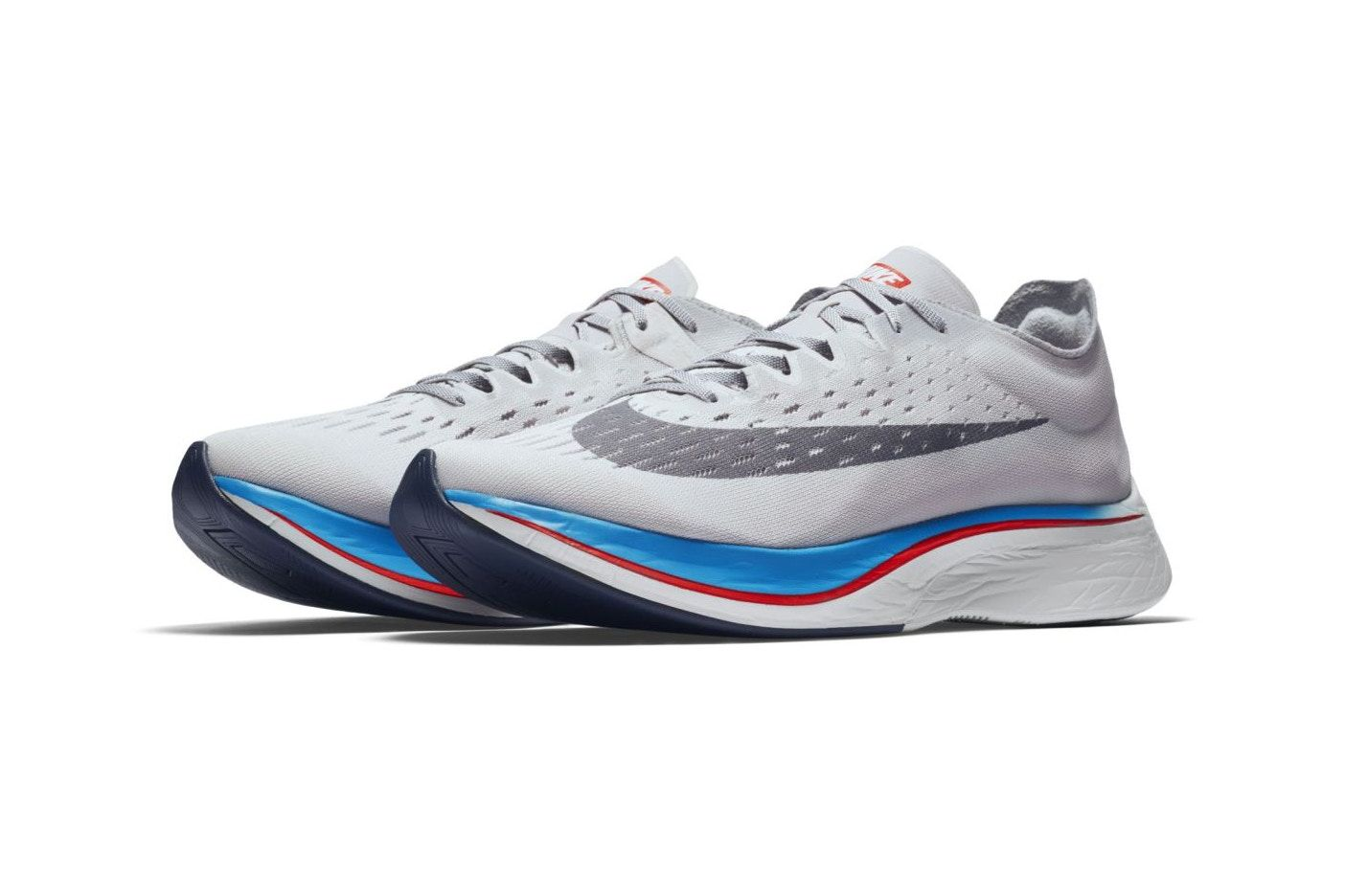 nike zoom vaporfly 4% materializza in grigio colorway nike.