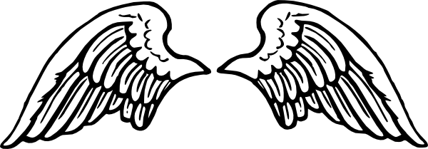 Clip Art Angel Wings Clipart free vector peterm angel wings clip art pinterest and art