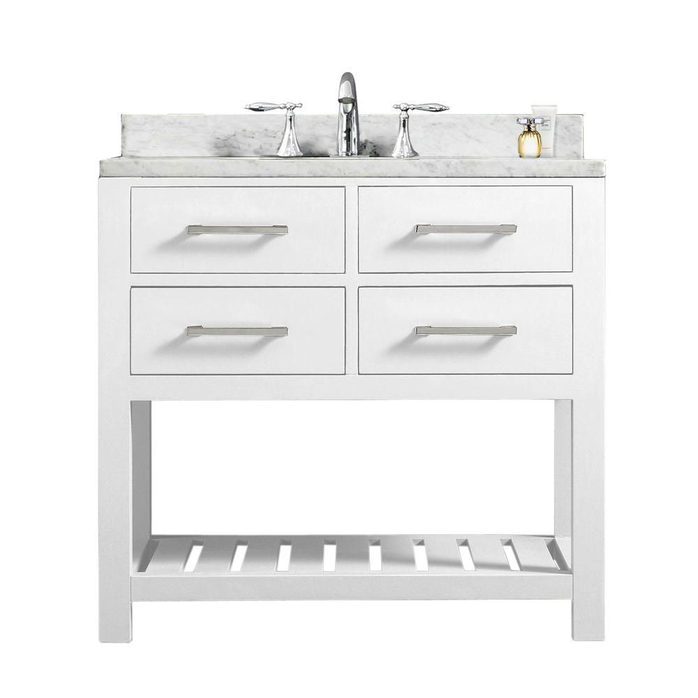 Water Creation Madison 72 In Bath Vanity In Monarch Blue With Carrara White Marble Vanity Top With Ceramics White Basins And Faucet Vmi072cwmb42 Marble Vanity Tops Blue Bathroom Interior Vanity